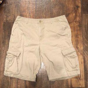 Urban Pipeline 100% Cotton Khaki Cargo Shorts